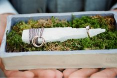 Wedding rings wrapped around quartz.  How did I not think of this?!?!