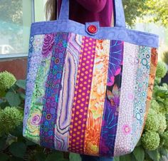 Brighten up your outfit and your day when you sew this fun, around-town tote bag featuring a vibrant array of fabrics from Kaffe Fassett's Classic Collection. Construct this beautiful bag with quic...