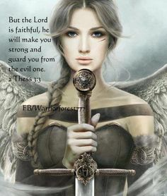 The Bible has hot chicks with swords? I need to start going to church. I wonder if they allow cosplay?