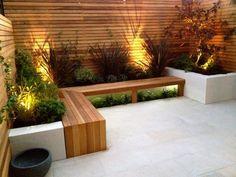 Best Modern Front Yard Landscaping Ideas – Home/Decor/Diy/Design Contemporary Garden Design, Small Garden Design, Landscape Design, Small Backyard Landscaping, Backyard Patio, Landscaping Ideas, Diy Garden Seating, Backyard Seating, Garden Benches