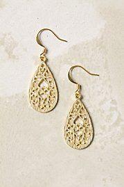 gold anthro earrings