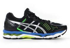 ASICS Mens Gel-Kayano 22 Black/Silver/Flash Yellow - Mens Road Running Shoes - Mens
