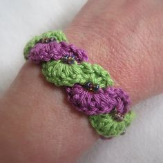 Mr. Micawbers Recipe for Happiness: Winding Lane Bracelet ~ Free Crochet Pattern with Video Tutorials