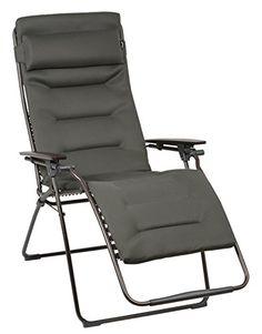 Lafuma gepolsterter Relax-Liegestuhl, klappbar und verstellbar, Futura Air Comfort XL, Taupe (Grau), LFM3090-6895 Lafuma
