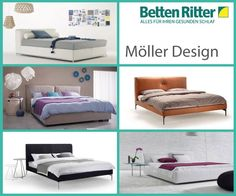 """Möller Design Möller Design entwickelt seit vielen Jahren Betten und Möbelsysteme, bei denen klares Design, Zeitlosigkeit und Langlebigkeit im Mittelpunkt stehen. Die Idee dahinter: """"Schlafräume wohnlicher und gemütlicher zu gestalten"""". https://www.bettenritter.com/Moeller-Design"""