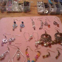 Earrings that I made.  So easy to make.