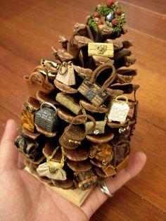 鞄のクリスマスツリー完成♪ ミニチュア・ドールハウスの画像 | バンビーニの部屋