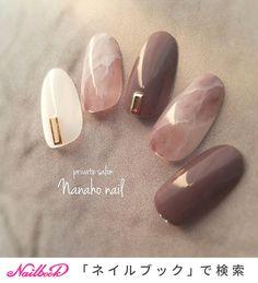 ネイル ネイル in 2020 Manicure Nail Designs, Nail Manicure, Nail Art Designs, Gel Nail Art, Love Nails, Pretty Nails, My Nails, Office Nails, Asian Nails