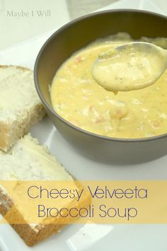 Maybe I Will...: Cheesy Velveeta Broccoli Soup.... This stuff is made with Liquid Gold Velveeta!! It is comfort food at it's best!!! So flippin' easy and delicious!!! #velveetarecipes