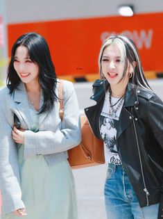 Somin and Jiwoo Otp, Dsp Media, Pop Bands, Lineup, Kpop Girls, Leather Jacket, Couples, My Love, Beauty
