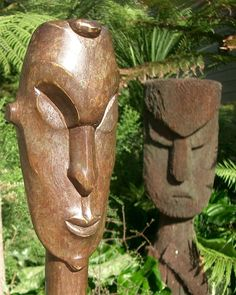 Image result for carved ponga Tree Fern, Garden Sculpture, Carving, Outdoor Decor, Image, Wood Carvings, Sculptures, Printmaking, Wood Carving