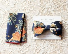 Mens Bow Tie Pre-tied Bow Tie For Men - Floral Bow Tie - Mens Gift Wedding Gifts Rustic Bow Tie Boho Wedding Groom Bow Tie