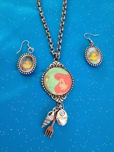 Little Mermaid Necklace and Earring Set