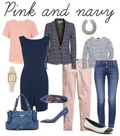 Combining pink with navy + lots more inspiration for wearing pastels | 40PlusStyle.com