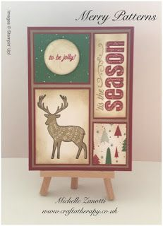 Stampin' Up! Merry Patterns meets Be Merry Designer Series Paper