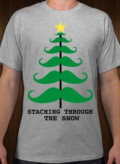9bc9c4a9d20 Staching through the Snow Christas t-shirt idea and template. Customize    order online with free 10-day shipping in the U.S.