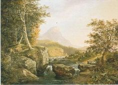 Ambrose Andrews - A Mountain Stream