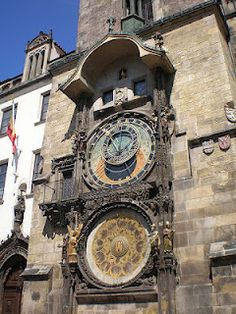 A dancing skeleton makes his appearance on the hour on the Astrological Clock, Prague.