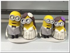 Minion wedding cake toppers
