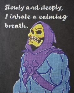 Skeletor Cross Stitch Pattern PDF Download by MakeItSewSisters, $7.00