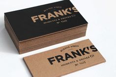 Frank's Moments & Drinks I wonder if this is doublesided which seems like a lot of work for the same thing. Love the black knockout onto the kraft