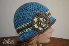 free crochet cloche pattern Beverly in Vanna's Choice #cre8tioncrochet..suggested as a good cap for cancer patients by Crochet For Cancer