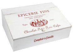 Comptoir de Famille Cutlery Box Epicerie Fine 40 x 28 x H. 14 cm