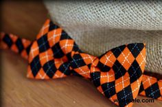 Mens Bow Tie - Orange and Black cotton diamond argyle print Halloween Bowtie, for men and teens - http://wildmale.com/mens-bow-tie-orange-and-black-cotton-diamond-argyle-print-halloween-bowtie-for-men-and-teens