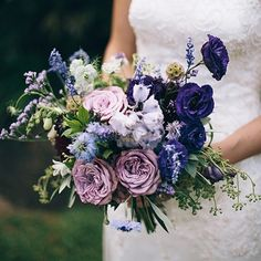 magnolia rouge lilac purple flower wedding bouquet