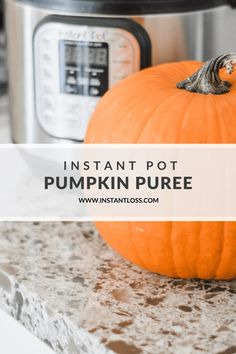 Instant Pot Pumpkin Puree (Use in place of canned pumpkin) - Instant Loss - Conveniently Cook Your Way To Weight Loss Blender Recipes, Oven Recipes, Clean Eating Recipes, Fall Recipes, Dinner Recipes, Easy Pressure Cooker Recipes, Instant Pot Pressure Cooker, Cooking Pumpkin, Canned Pumpkin