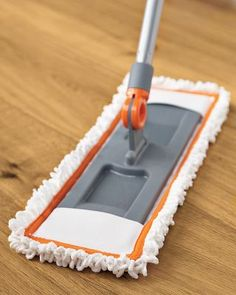Microfiber mops are great for easy clean-ups on wood and kitchen floors.