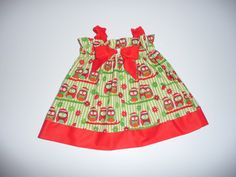 Christmas dress for babies and girls from by NaturalKidsClothing