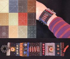 Julie Powell cuff inspired by a painting by Sean Scully