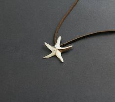 Star fish Sea star necklace pendant sterling silver hand