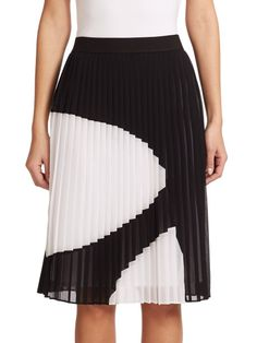 Figata Pleated Skirt Midi Skirt, Pleated Skirts, Bailey 44, Ballet Skirt, Black And White, Draping, Clothes, Future, Design