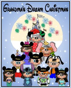 Custom Personalized DISNEY CHRISTMAS HOLIDAY by togs4sprogs
