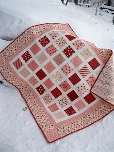 valentine quilt or a cool I Spy layout
