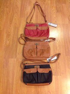 NWT Treviso Double Pocket Cross Body Handbag - Various Colors #Treviso #MessengerCrossBody