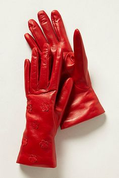 Hester Leather Gloves #anthropologie