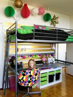 3 Kids + 3 Loft Beds in a Shared D.C. Bedroom — My Room | Apartment Therapy