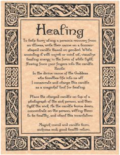 12 Healing Spell Pages for Book of Shadows BOS Page by MyGrimoire, $10.50