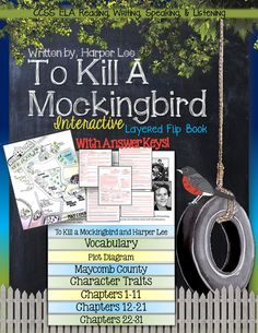 To Kill A Mockingbird: Interactive Layered Flip Book ($)