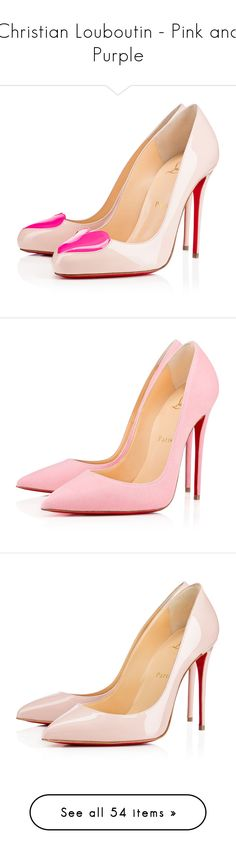 """""""Christian Louboutin - Pink and Purple"""" by hemmo1drauhl on Polyvore featuring shoes, pumps, christian louboutin, heels, louboutin, ballerina, ballet shoes, pink ballet shoes, christian louboutin pumps e high heeled footwear"""