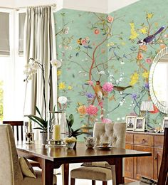 Gourmet kitchen: 60 decorating ideas with photos and designs - Home Fashion Trend Vintage Bird Wallpaper, Wallpaper Rosa, Unique Wallpaper, Home Wallpaper, Vintage Birds, Kitchen Wallpaper Vintage, Wallpaper Samsung, Emoji Wallpaper, Screen Wallpaper