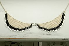 beaded collar necklace by whyzee on etsy