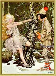 """Illustration from """"Sven the Wise and Svea the Kind"""" - Gustaf Tenggren (1932)"""