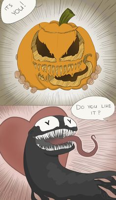 i draw — tbh i think venom would love halloween♥ inspired... Venom Comics, Marvel Venom, Disney Marvel, Marvel Avengers, Dc Comics, Marvel Funny, Avengers Memes, Marvel Memes, Spideypool