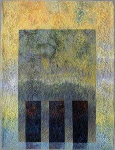 Heide Stoll-Weber, another piece featuring her wonderful hand dyes.    Spirituals XI: Columns  2004  150 x 115 cm