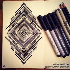 Lindas ilustrações no estilo Zentangle da francesa Celiline