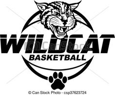 Wildcat basketball team design with mascot head for school, college or league. Wildcats Basketball, Basketball Teams, Eps Vector, Vector Art, Sport Craft, Art Icon, Free Illustrations, Line Art, Royalty